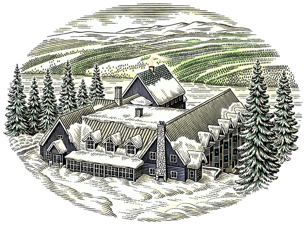Fjällgården is our winter wonderland